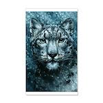 Snow Leopard 35x21 Wall Decal