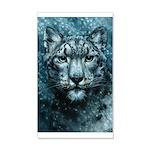 Snow Leopard 20x12 Wall Decal