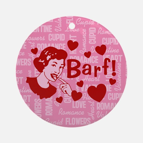 Hearts And Romance Barf Ornament (Round)