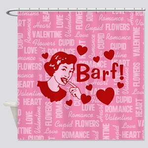 Hearts And Romance Barf Shower Curtain