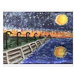 Starry Night Lake Pontchartrain Poster