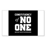Constituency of No One Sticker (Rectangle)