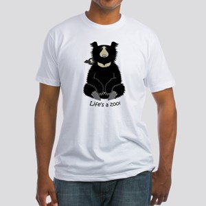 Sloth Bear with Cub Fitted T-Shirt