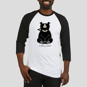 Sloth Bear with Cub Baseball Jersey