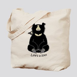 Sloth Bear with Cub Tote Bag