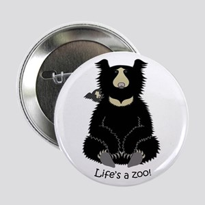 "Sloth Bear with Cub 2.25"" Button"