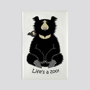 Sloth Bear with Cub Rectangle Magnet