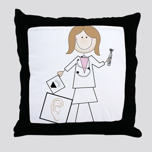 Female Audiologist Throw Pillow