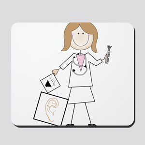 Female Audiologist Mousepad