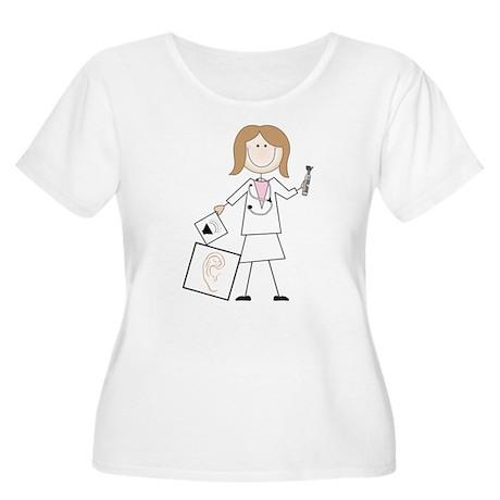 Female Audiologist Women's Plus Size Scoop Neck T-