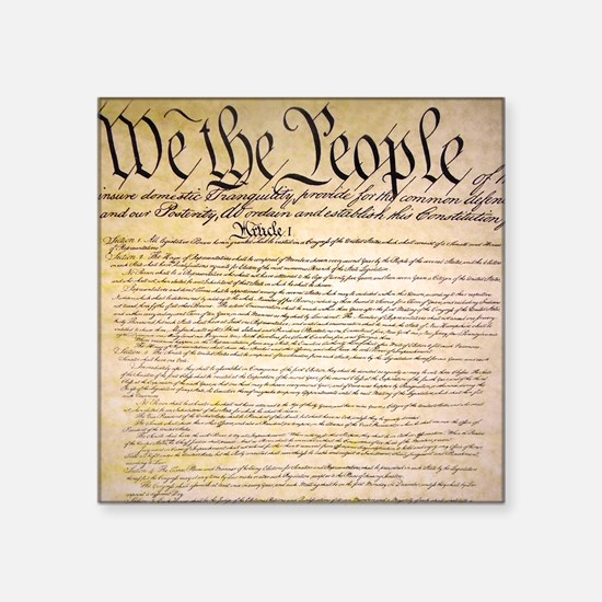 """We The People Square Sticker 3"""" x 3"""""""
