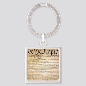 We The People Square Keychain