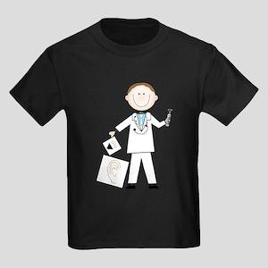 Male Audiologist Kids Dark T-Shirt