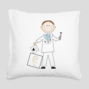 Male Audiologist Square Canvas Pillow