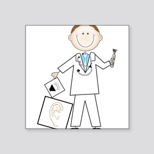 "Male Audiologist Square Sticker 3"" x 3"""