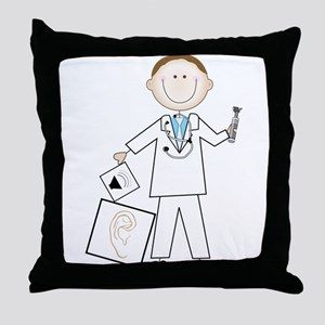 Male Audiologist Throw Pillow
