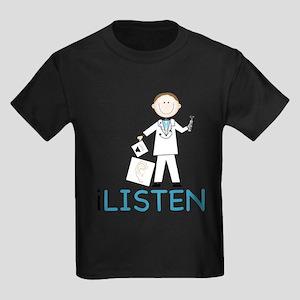 I Listen Kids Dark T-Shirt