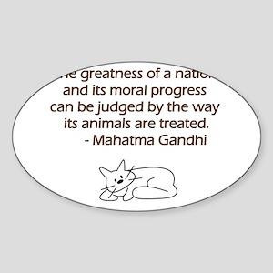 Gandhi Cat Quote Sticker