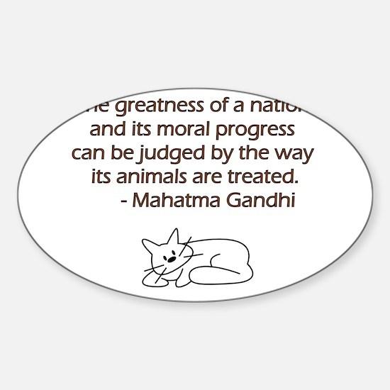 Gandhi Cat Quote Decal