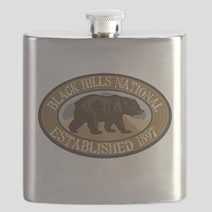 Black Hills Brown Bear Badge Flask