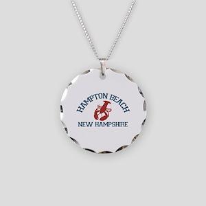 Hampton Beach NH - Lobster Design. Necklace Circle