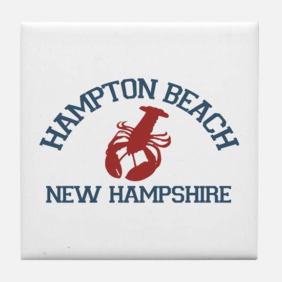 Hampton Beach NH - Lobster Design. Tile Coaster