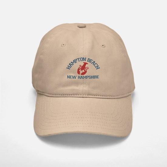 Hampton Beach NH - Lobster Design. Baseball Baseball Cap