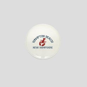 Hampton Beach NH - Lobster Design. Mini Button