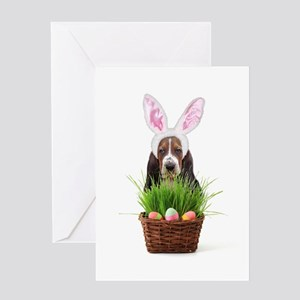Easter Basset Hound Greeting Card