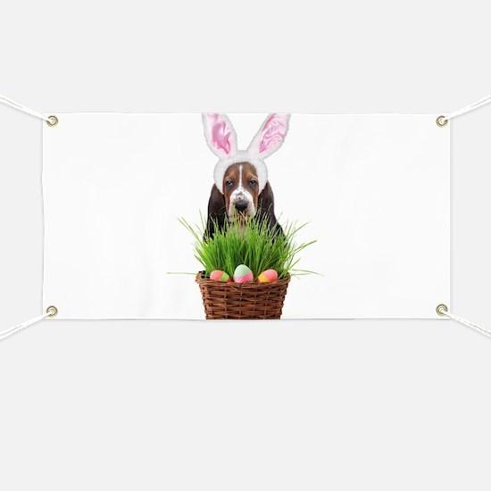 Easter Basset Hound Banner