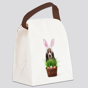 Easter Basset Hound Canvas Lunch Bag