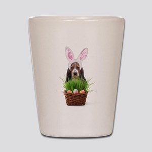 Easter Basset Hound Shot Glass