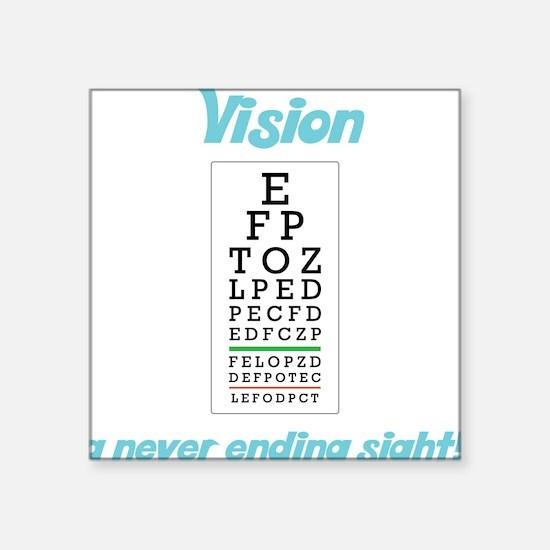"""Vision Square Sticker 3"""" x 3"""""""