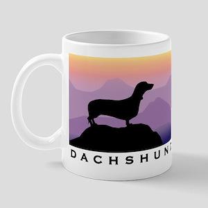 dachshund dog purple mt. Mug