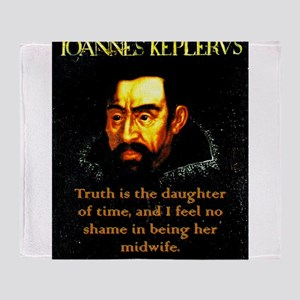 Truth Is The Daughter Of Time - Kepler Throw Blank