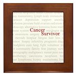 Cancer Survivor Framed Tile