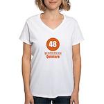 48 Quintara Orange Women's V-Neck T-Shirt
