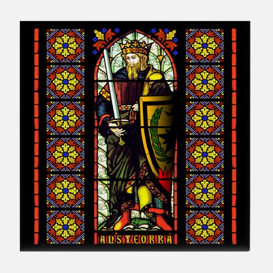 Stained Glass AnsteorranKing TileCoaster