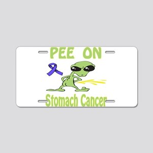 Pee on Stomach Cancer Aluminum License Plate