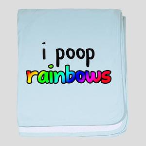 i poop rainbows baby blanket