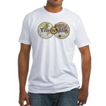 Classic Travel Addict Fitted T-Shirt