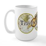 Classic Travel Addict Large Mug