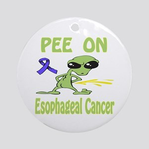 Pee on Esophageal Cancer Ornament (Round)