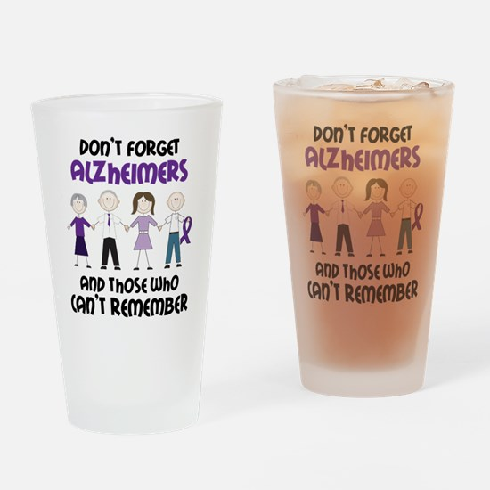 Dont Forget Alzheimers Drinking Glass