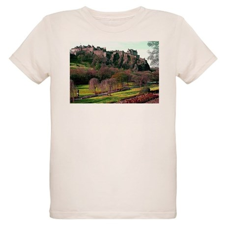 Edinburgh Castle View Organic Kids T-Shirt
