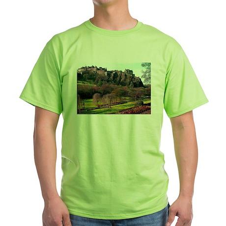 Edinburgh Castle View Green T-Shirt