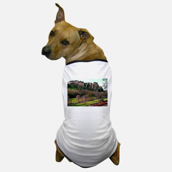 Edinburgh Castle View Dog T-Shirt