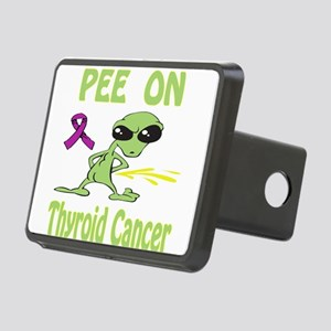 Pee on Thyroid Cancer Rectangular Hitch Cover