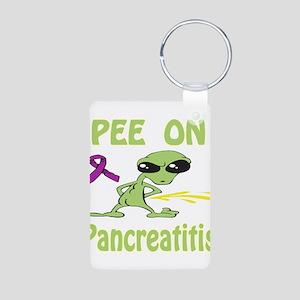 Pee on Pancreatitis Aluminum Photo Keychain