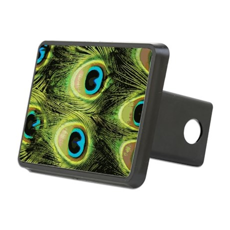 Peacock Feathers Macro Rectangular Hitch Cover